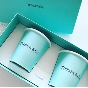 """NEW! Tiffany & Co bone China """"paper cup"""" hot cup"""